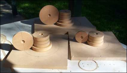 Photo of the MDF cores of molds before bondo is added